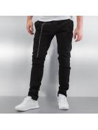 2Y Slim Fit Jeans Zip schwarz