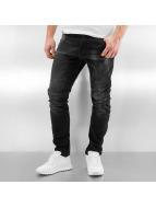 2Y Slim Fit Jeans Antifit schwarz