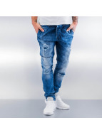 2Y Straight Fit Jeans Destroyed blau