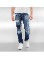 2Y Straight Fit Jeans Patchwork blau