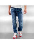 2Y Straight Fit Jeans Wash blau