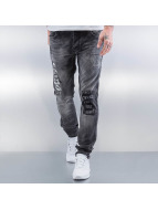2Y Straight Fit Jeans Come Back grau