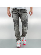 2Y Straight fit jeans Zip grijs