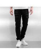 2Y Straight Fit Jeans Zip Fastener schwarz