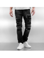 2Y Straight Fit Jeans Stitch schwarz