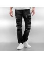 2Y Straight fit jeans Stitch zwart