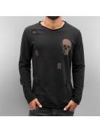 2Y Swetry Skull czarny