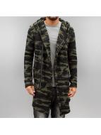 2Y Swetry rozpinane Camo khaki