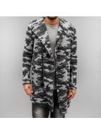 2Y Swetry rozpinane Camo szary