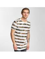 2Y T-Shirt Camo Stripes blanc