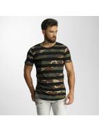 2Y T-Shirt Camo Stripes schwarz