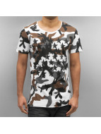 2Y T-skjorter Camo Stars hvit