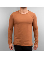 2Y Tričká dlhý rukáv Wendell oranžová