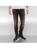 2Y Used Skinny Jeans Brown