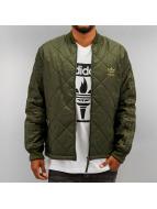 adidas Демисезонная куртка Quilted Superstar оливковый