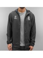 adidas Демисезонная куртка Real Madrid серый
