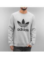 adidas Пуловер Trefoil Fleece серый