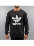 adidas Пуловер Trefoil Fleece Crew черный