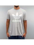 adidas Футболка Trefoil серый