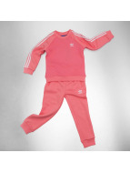 adidas Anzug Adidas Quilted Fleece Sweat Suit pink
