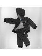 adidas Anzug Trefoil Hoody Suit Set schwarz
