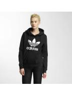 adidas Bluzy z kapturem Trefoil Logo czarny