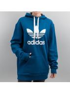 adidas Bluzy z kapturem Long niebieski