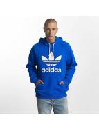 adidas Bluzy z kapturem Trefoil niebieski