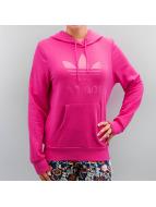 adidas Bluzy z kapturem Trefoil Logo pink
