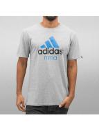 Adidas Boxing MMA Community T-Shirt Grey/Solar Blue