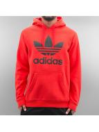 adidas Hoodies Originals Trefoil röd