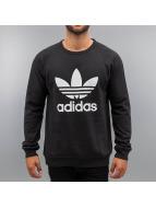 adidas Jersey Trefoil Fleece Crew negro