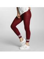 adidas Leggings/Treggings 3 Stripes czerwony