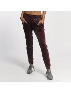 adidas Pantalone ginnico Velvet Vibes rosso
