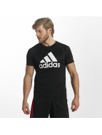 adidas Performance T-Shirt D2M Logo schwarz
