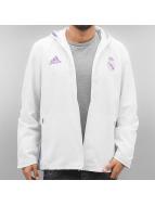 adidas Prechodné vetrovky Real Madrid biela