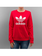 adidas Pullover Trefoil Crew rot