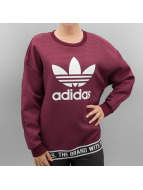 adidas Pullover Trefoil rouge