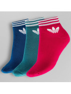 adidas Socks Trefoil Ankle Strippes colored