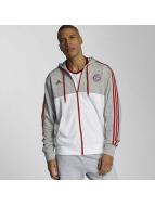 adidas Sweat à capuche zippé FC Bayern München gris
