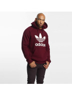 adidas Sweat capuche Trefoil rouge