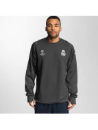 adidas T-Shirt manches longues Real Madrid gris