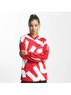 adidas T-Shirt manches longues Oversized Track rouge