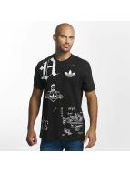 adidas T-shirt Off Placement nero