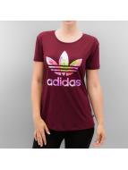 adidas T-Shirt Graphic Trefoil rot