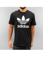 adidas T-Shirt Originals Trefoil schwarz