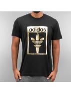 adidas T-Shirt Trefoil Fire schwarz
