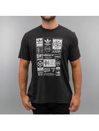 adidas T-Shirt Vintage Trefoil schwarz