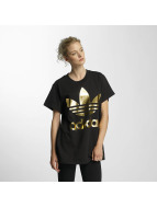 adidas T-Shirt Big Trefoil schwarz