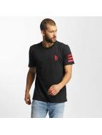 adidas T-Shirt Dame Stripe schwarz